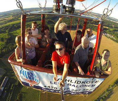 let horkovzdušným balónem
