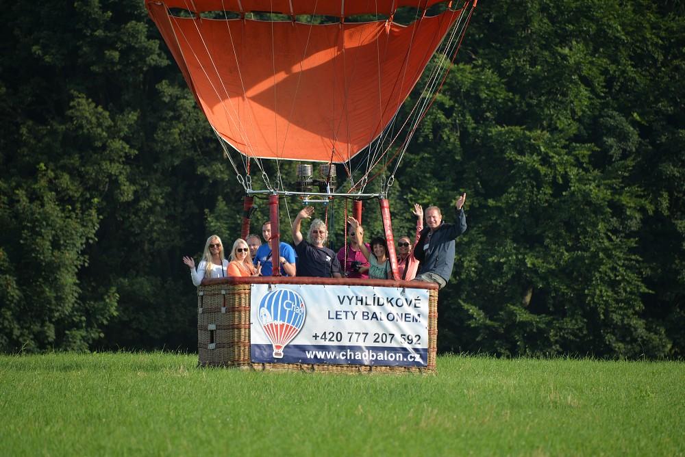 Přistání balónem Chad