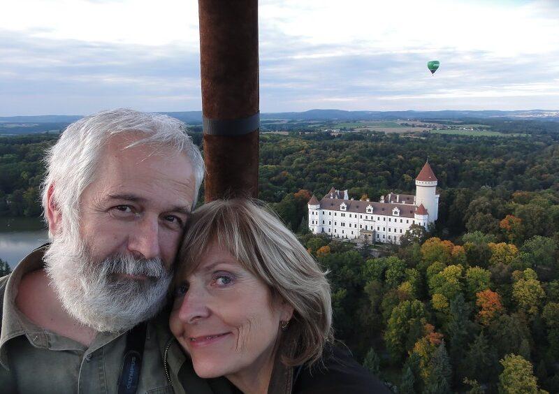 let balonem Konopiště